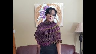 How to knit cape or mini poncho for bigginers