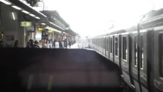 高崎線上り人身事故運転再開直後12月6日、上尾駅付近