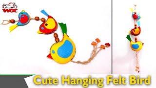 DIY Home Decor - How To Make A Cute Hanging Felt Bird Decoration - DIY Felt Bird Tutorial
