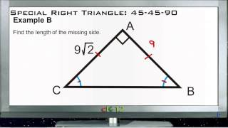 Special Right Triangle 45-45-90: Examples (Basic Geometry Concepts)
