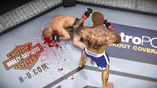ГОЛОВА в МЯСО за ТОП УДАРНИКА в UFC 3 RANKED TOP 10