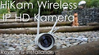 HiKam Wireless IP Kamera HD A7 Kamera für den Außenbereich [Review & Installation]