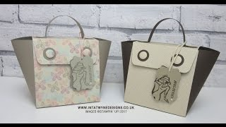 Chic Handmade Bag using A4 card and Falling in Love DSP