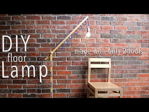 DIY Floor Lamp w/ Only 2 Tools | FREE Plans Included