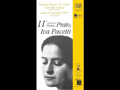 Preview video 11a edizione premio Prato, Iva Pacetti 28/11/2015