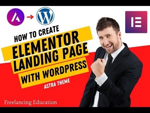 1#WordPress Landing Page Design Using Elementor Page Builder Part -1 WordPress Tutorial Bangla