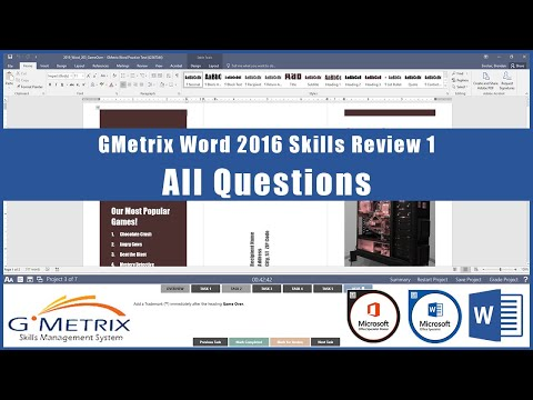 GMetrix Word 2016 Skills Review 1 - All Questions