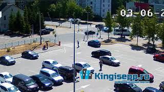 ШОКИРУЮЩИЕ кадры из Кингисеппа. Момент ДТП с ребенком с веб-камеры KINGISEPP.RU
