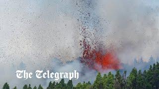 video: Watch: Volcano erupts on the Spanish island of La Palma
