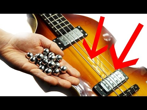 How to hit Bass strings with Marbles - Marble Machine X