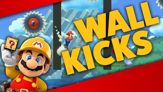 Super Mario Maker - PRACTICE WALL KICKS! - Level Showcases