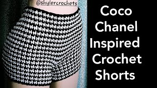 Coco Chanel Inspired Crochet Shorts