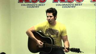 "JT Hodges sing ""Sleepy Little Town"" for radio station K99"
