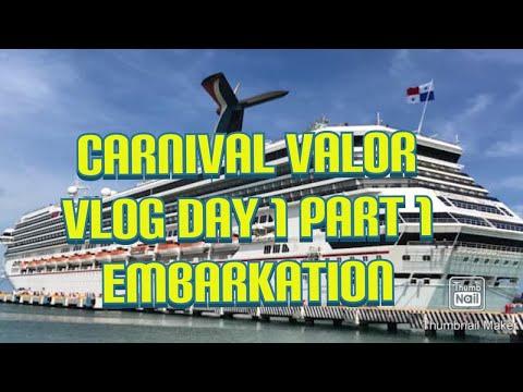 Carnival Valor Cruise Day 1 Part 1: Embarkation
