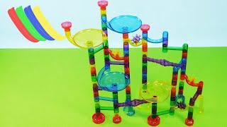Ucradle Kugelbahn: Marble Run - Test und Aufbau der Murmelbahn aus Plastik - Spielzeug für Kinder