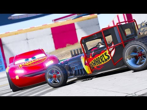 HOT WHEELS BONESHAKER VS CARS 3 LIGHTNING MCQUEEN DRIFT CHALLENGE (Cars 3 Challenge)