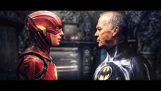 The Flash Movie Trailer Michael Keaton Batman Scene and Evil Flash Easter Eggs