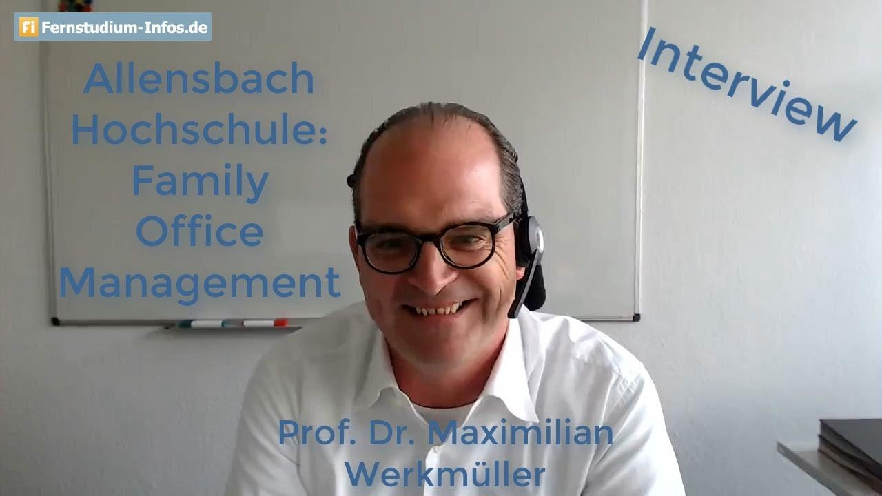 Family Office Management in distance learning at Allensbach Hochschule | INTERVIEW