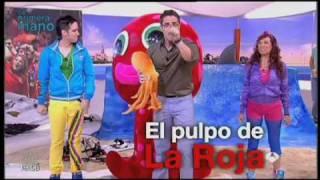 Juan D y Beatriz en 3D Antena 3 con el pulpo Miomio