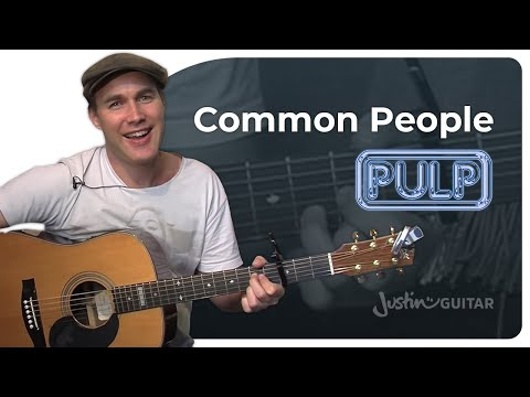 Common People - Pulp (Easy Songs Beginner Guitar Lesson BS-110) How to play