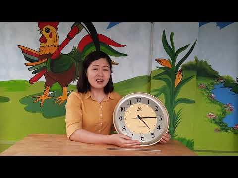 Hướng dẫn trẻ cách xem  giờ đúng trên đồng hồ