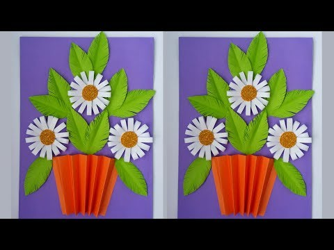 DIY: Paper Flower!!! How to Make Tiny Paper Flowers Using Colour ...