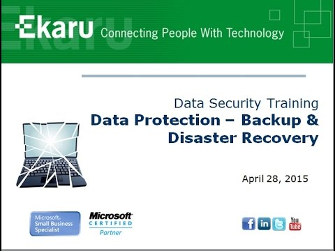 Backup and Disaster Recovery Training - YouTube