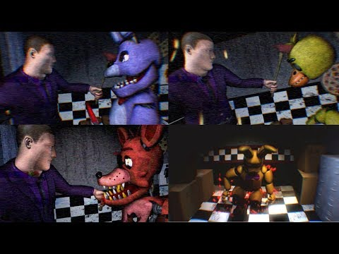 FNAF3 Mini Game Compilation - Animatronic Perspective View