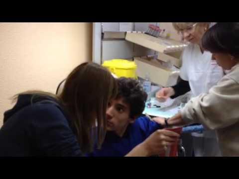Il helminth può impigliarsi dal paziente