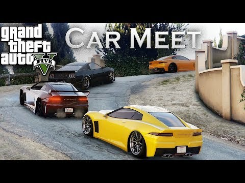 AWESOME GTA5 ONLINE CAR MEET