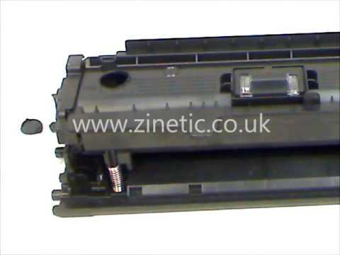 How to refill and reset the HP CE250X CE250A CE251A CE252A CE253A cartridge
