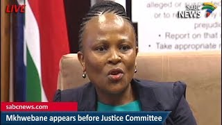 Public Protector appears before Justice Committee, 06 March 2018
