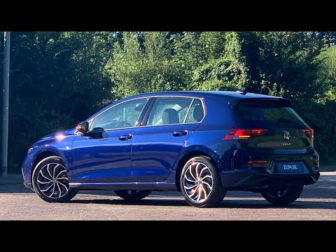 "Volkswagen NEW Golf 8 Life in 4K 2020 Atlantic Blue 17 inch ""Ventura"" Walk around & detail inside"