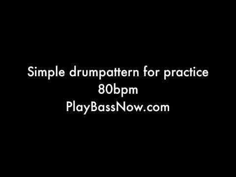 80 bpm Drum machine loop pattern