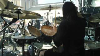 Pearl Artist Daniel Erlandsson/Arch Enemy Drum Cam Tuska 2011 - Bloodstained Cross