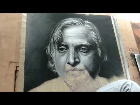 portrait rangoli design of abdul kalam by ganesh khare