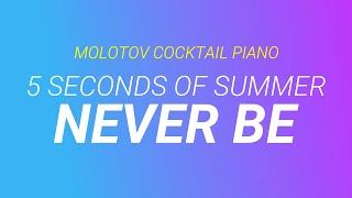 Never Be - 5 Seconds of Summer (tribute cover by Molotov Cocktail Piano)