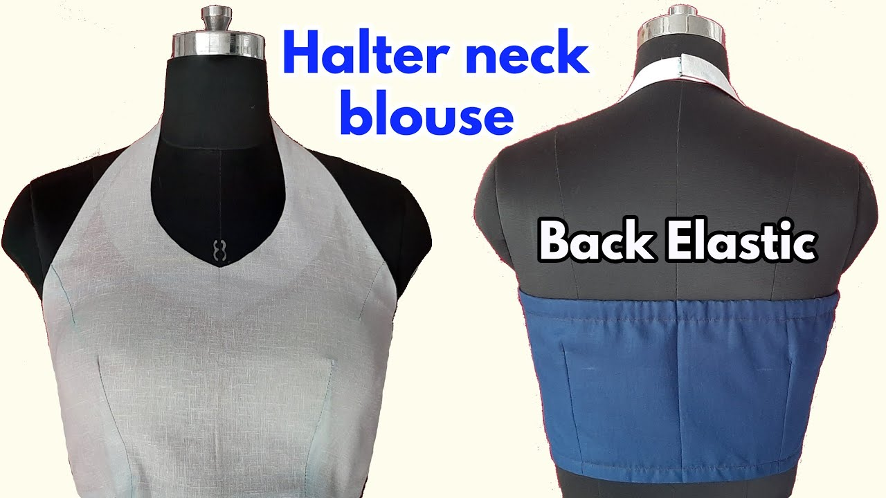 halter neck blouse cutting and stitching video tutorial fashion art and designing hd sanchaniy