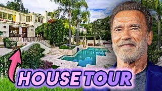 Arnold Schwarzenegger   House Tour   Pacific Palisades & Brentwood Mansions