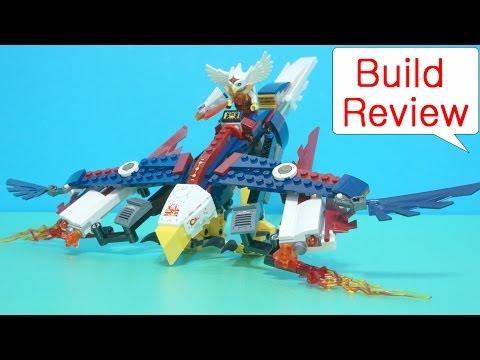 Vidéo LEGO Chima 70142 : Le planeur Aigle de Feu d'Eris