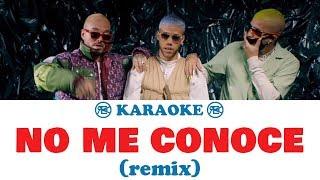 Jhay Cortez, J. Balvin, Bad Bunny   No Me Conoce (Remix) | Karaoke, Instrumental Con Letra