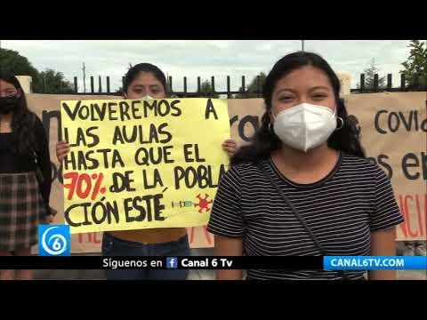 Estudiantes en Puebla no regresarán a clases presenciales sin vacuna