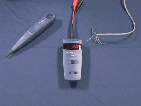 Instructional Video - Fluke TS100 Cable Fault Finder