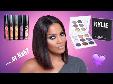 Kylie Cosmetics Purple Palette & Fall Lip Kits Review | Makeupshayla