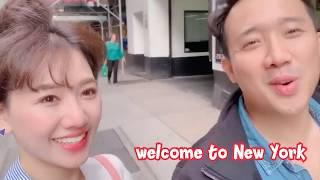 (한)Hari Won - Trấn Thành Troll nhau khi lưu diễn New York 하리 - 쩐탄 부부 공연하러 갈때 귀여운 장난