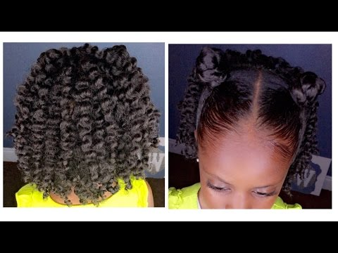 Two-Strand Twist Out w/Bantu Knots   Kids Natural Hairstyle   IAMAWOG