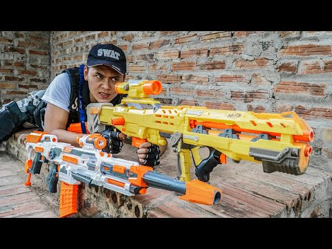 LTT Nerf War : Patrol Police SEAL X Warriors Nerf Guns Fight Criminal Group Dr Mundo Jungle Hunter