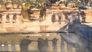 Advancing With Watercolor: In The Masters Footsteps Boboli Gardens