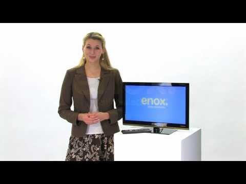 ENOX 12 Volt LCD LED Fernseher 22 Zoll (55cm) mit DVB-T + DVB-C Tuner für Unterwegs