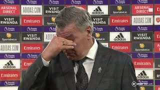 """""""I couldn't really ask for too much more from the players..."""" Allardyce on West Brom relegation"""
